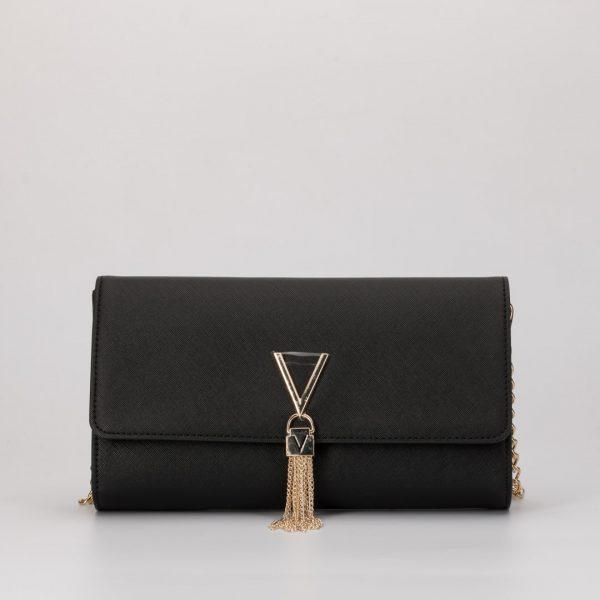 Valentino VBS1IJ01 BOLSO DIVINA SA NEGRO, bolso CLUTCH, bolso bandolera negro de Valentino Handbags bolsos de vestir negros